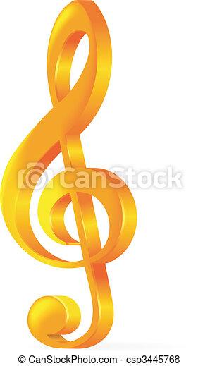 violinschlüssel, abbildung, hintergrund, vektor, goldenes