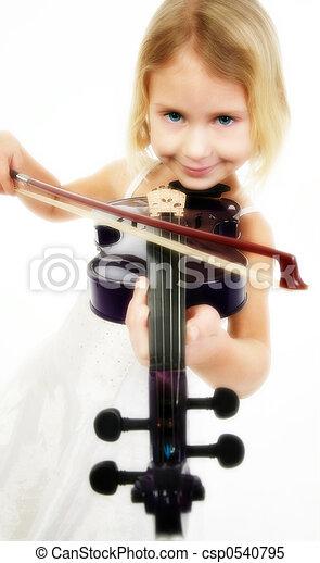 violist, weinig; niet zo(veel) - csp0540795