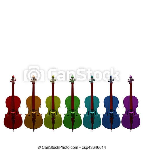 Violoncelo Instrumento Musical Ilustracion 3d