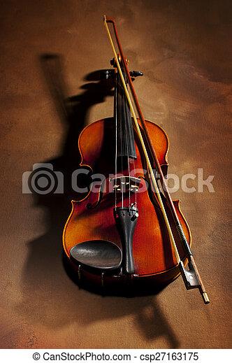 viool, schaduw - csp27163175