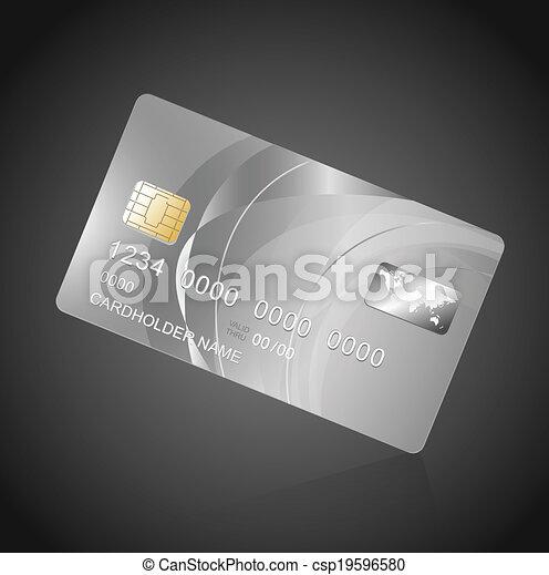 Vip card silver on black vector template vip card silver on black csp19596580 maxwellsz