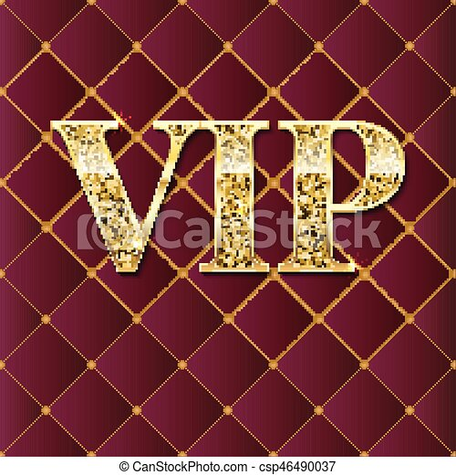 Vip golden letters with glitter on abstract quilted background vip golden letters with glitter on abstract quilted background luxury card geometric repeating luxury ornament with golden diagonal square template for spiritdancerdesigns Image collections