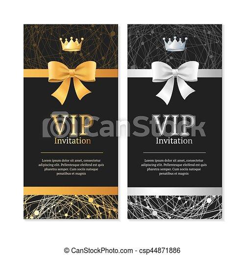 Vip invitation and card set vector vip invitation and card vip invitation and card set vector stopboris Images
