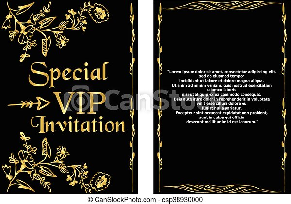 Vip invitation card template a golden invitation card that vip invitation card template csp38930000 stopboris Gallery