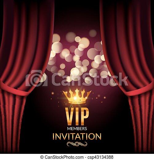 Vip invitation luxury poster design golden word vip premium invitation stopboris Gallery
