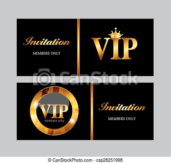 VIP Members Card Vector Illustration - csp28251998