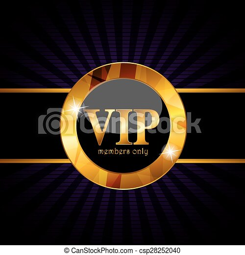 VIP Members Card Vector Illustration - csp28252040