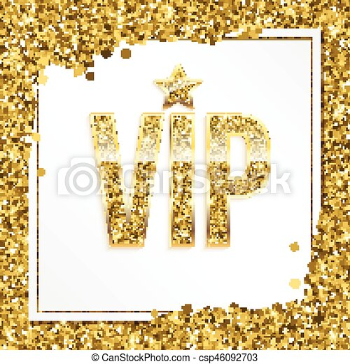 Vip premium invitation card poster or flyer for party golden vip premium invitation card poster or flyer for party golden design template with glittering stopboris Image collections