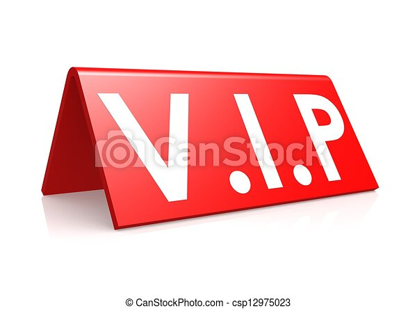 VIP tag in red. - csp12975023