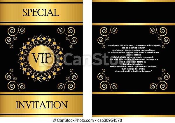 Tarjeta Vip De Invitación Una Plantilla De Invitación Vip