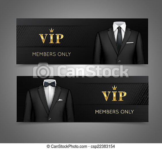 El hombre de negocios usa estandartes horizontales - csp22383154