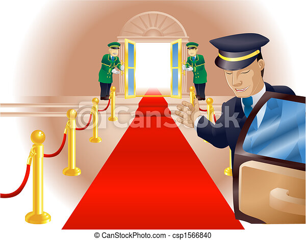 Tratamiento de alfombra roja VIP - csp1566840