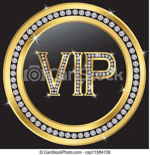 Vip with diamonds - csp11084139