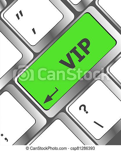 VIP written button keys on computer keyboard - csp81286393