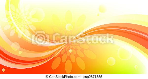 virág, ív, háttér - csp2871555