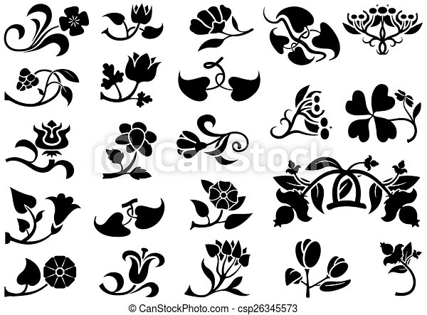 virág, pictograms - csp26345573