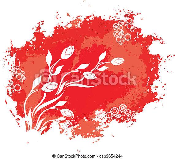 virágos, szüret, grunge, háttér - csp3654244