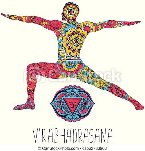 Virabhadrasana. Pose in yoga. - csp62783963