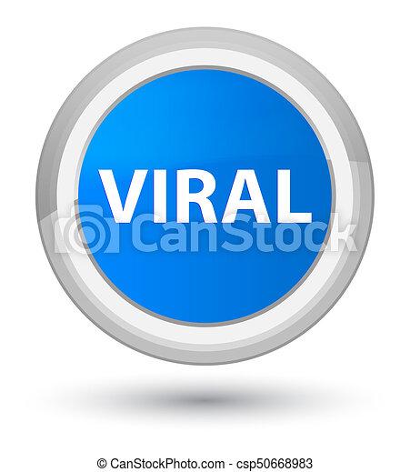 Viral prime cyan blue round button - csp50668983