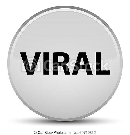 Viral special white round button - csp50719312