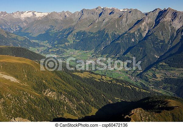 Virgental in Osttirol Austria on a sunny morning - csp60472136