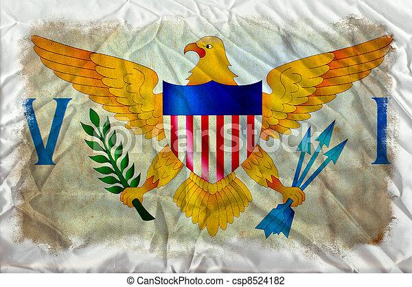 Virgin Islands grunge flag - csp8524182