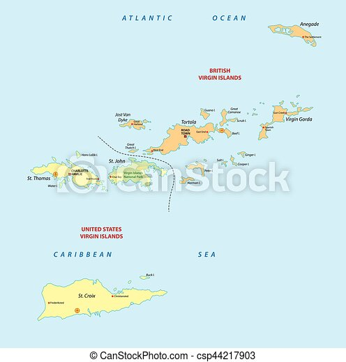 virgin islands map csp44217903