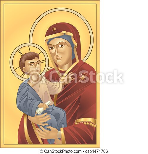 Virgin Mary and Jesus Christ - csp4471706