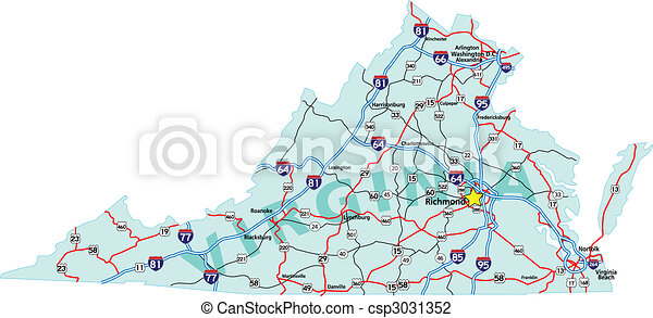 Virginia Interstate Map - csp3031352