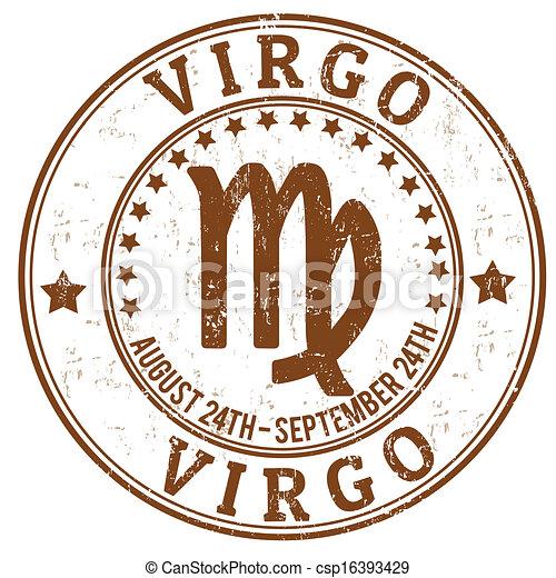Virgo zodiaco sello grunge - csp16393429