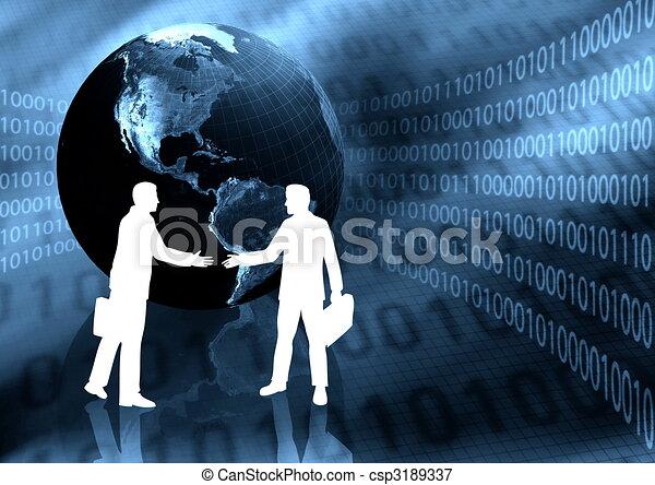 Virtual Business Handshake - csp3189337