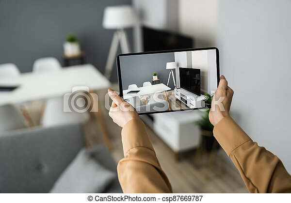 Virtual Open House Showing - csp87669787