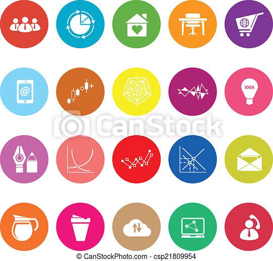 Virtual organization flat icons on white background - csp21809954