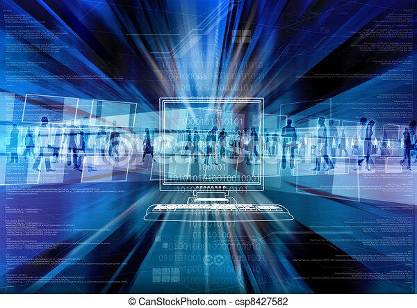 Virtual people in Virtual world - csp8427582