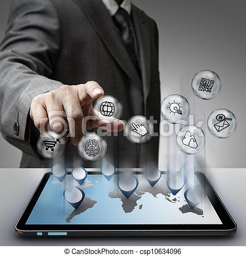 virtual pixel sign internet icons concept - csp10634096