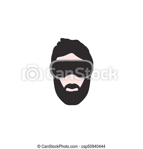 Virtual Reality Headset Icon. Vector - csp50940444