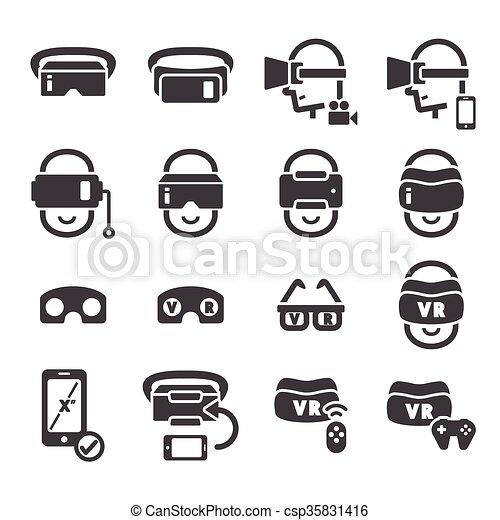 virtual reality icon - csp35831416