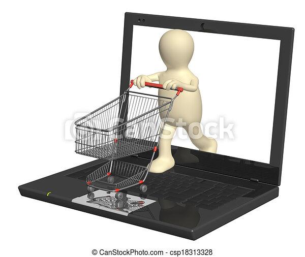 Virtual shopping - csp18313328