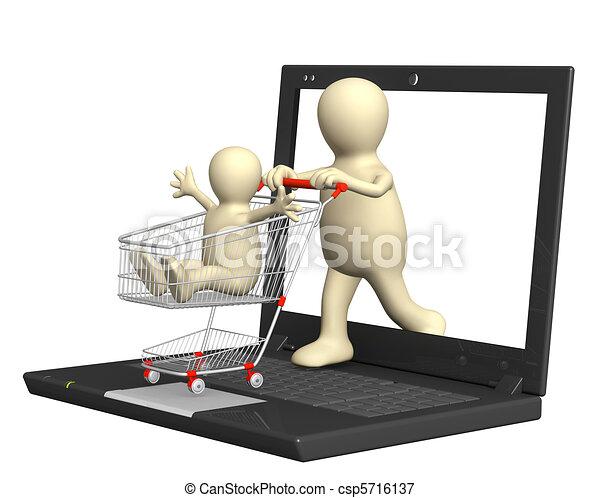 Virtual shopping - csp5716137