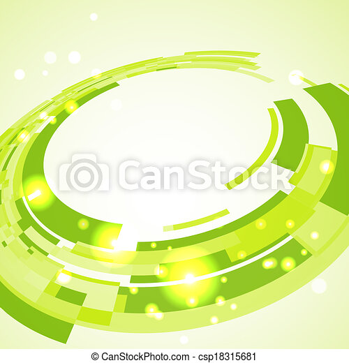 Virtual technological green disk with space for your business message - csp18315681