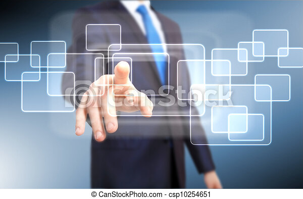 Virtual technology in business - csp10254651