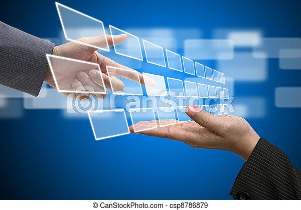 Virtual Technology Touch Screen Interface - csp8786879