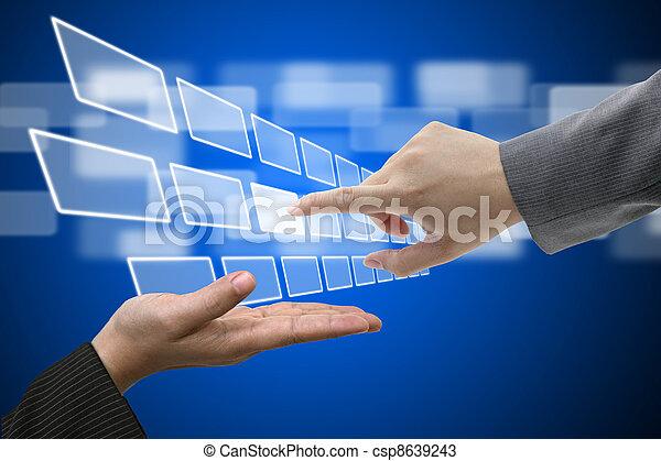 Virtual Technology Touch Screen Interface - csp8639243