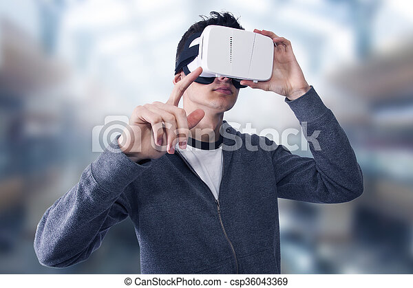 virtuelle wirklichkeit - csp36043369