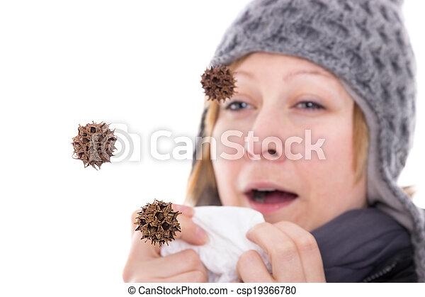 Virus en el aire - csp19366780