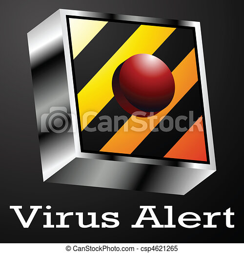 Virus Alert Button - csp4621265