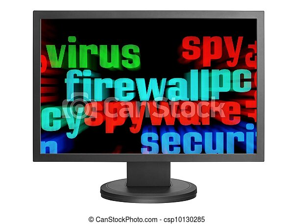 Virus and firewall concept - csp10130285