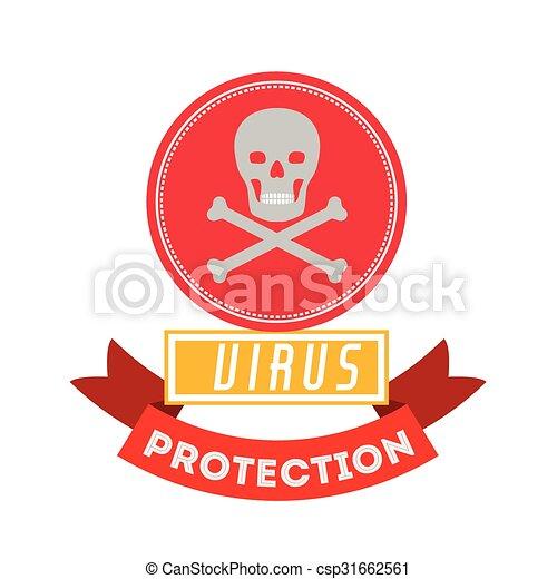 virus bescherming, ontwerp - csp31662561
