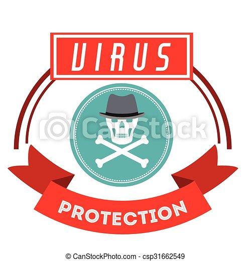 virus bescherming, ontwerp - csp31662549