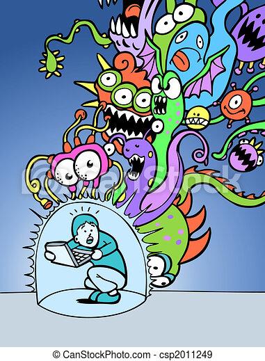 virus bescherming - csp2011249